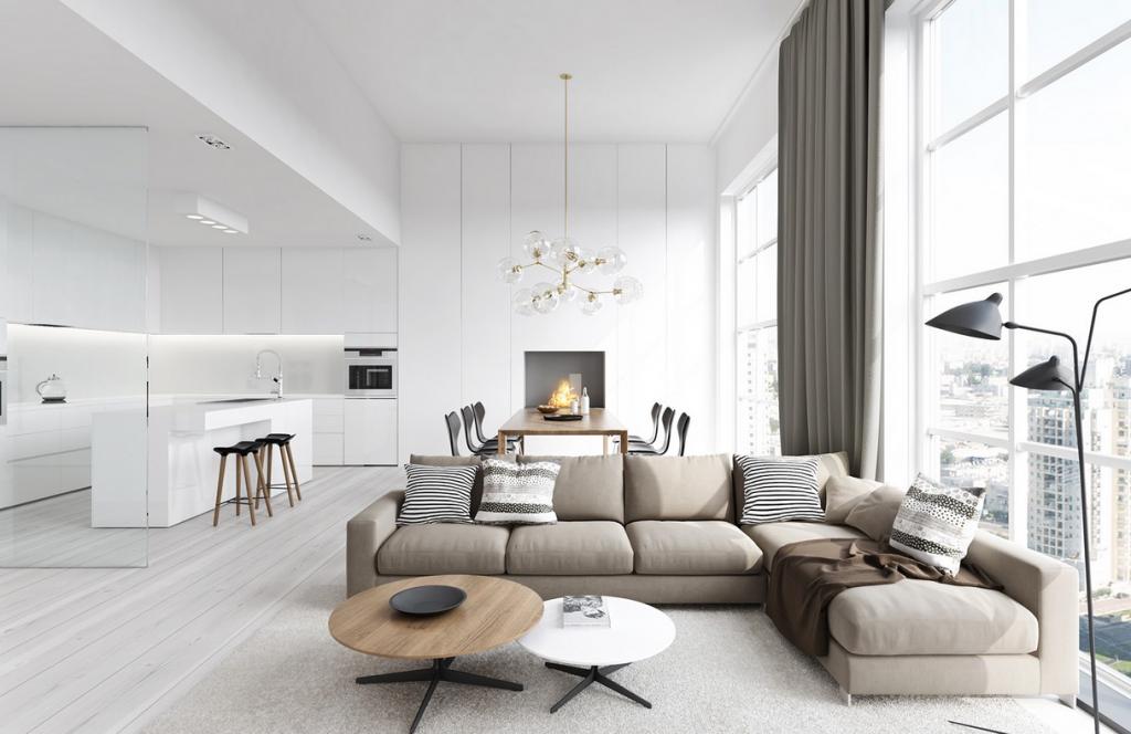 Wedo thiết kế nội thất phòng khách hiện đại,thoáng mát 10