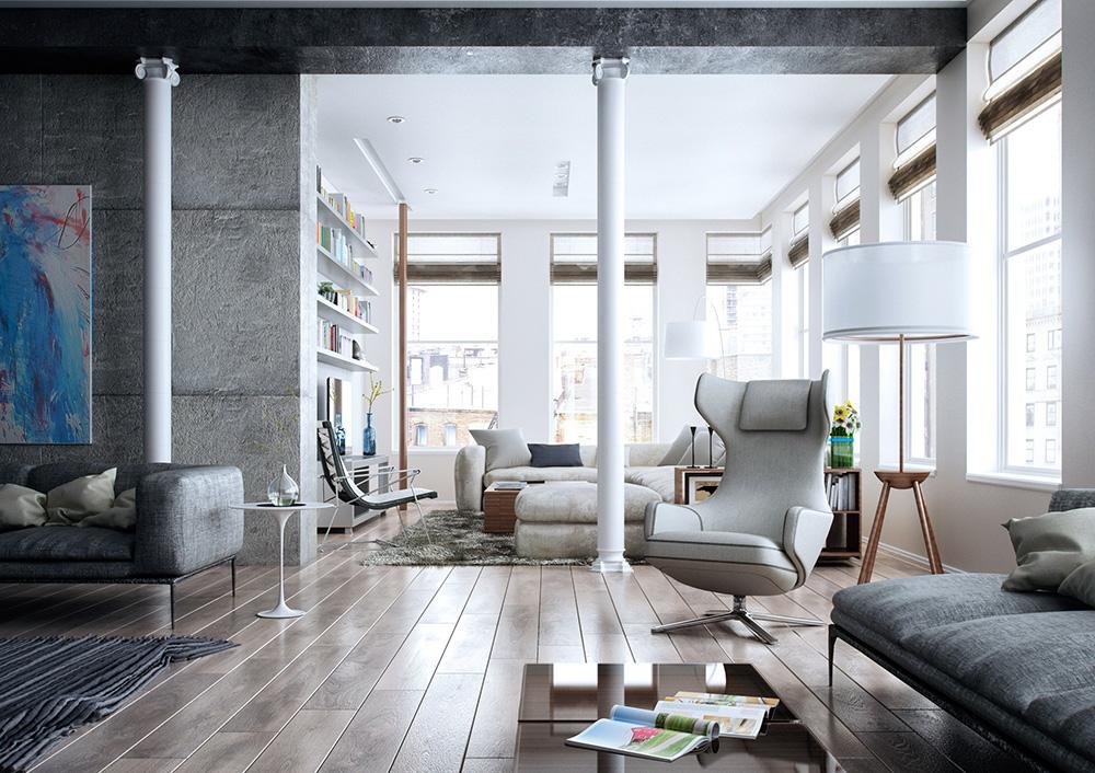 Wedo thiết kế nội thất phòng khách hiện đại,thoáng mát 15