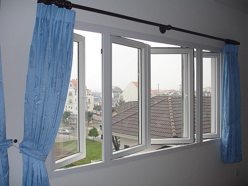 Mẫu cửa sổ nhựa lõi thép 3a window mở quay 2 cánh đẹp