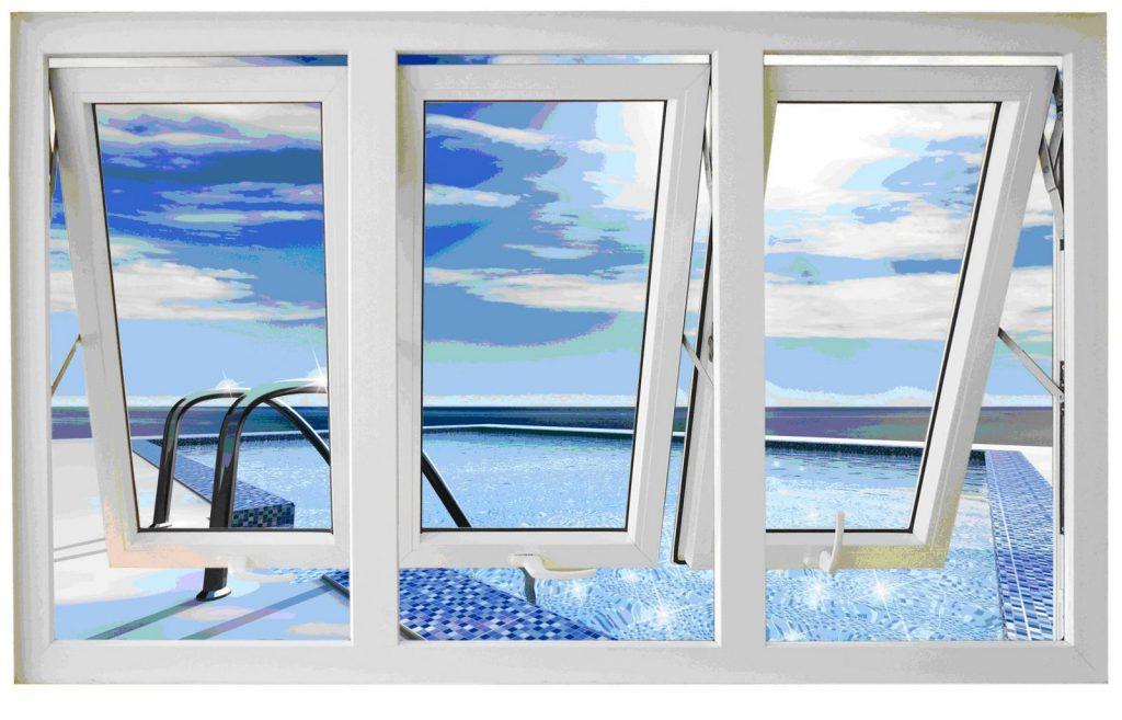 Mẫu cửa sổ nhựa lõi thép 3a window mở hất ra ngoài đẹp