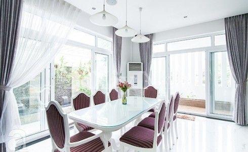 Phòng ăn đẹp lung linh và gần gũi thiên nhiên với cửa nhựa lõi thép 3a window