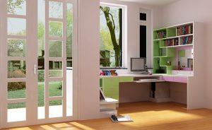 Cửa nhựa lõi thép 3a window đẹp cho phòng làm việc và học tập