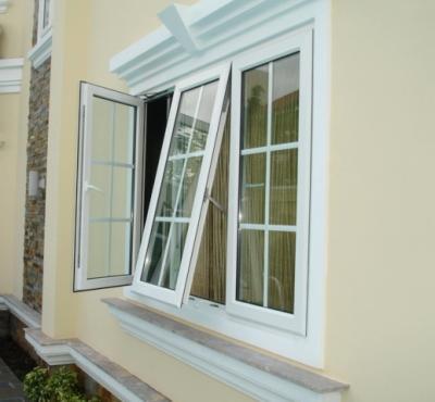 Mẫu cửa sổ nhựa lõi thép 3a window mở quay và hất ra ngoài đẹp
