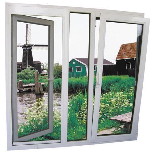 Mẫu cửa sổ nhựa lõi thép 3a window mở quay và hất đẹp
