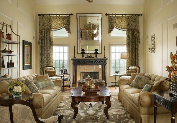 Cách thức treo rèm khác nhau có thể biểu đạt những sắc thái không giống nhau cho căn phòng.