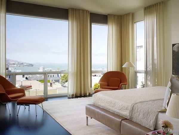 """Rèm giấu thanh đem lại cảm giác mềm mại cho không gian nội thất và rất phù hợp cho căn phòng có """"view"""" đẹp."""