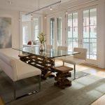 mẫu cửa nhựa lõi thép đẹp cho phòng ăn không gian mở.